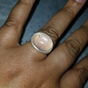 🌹💎Rose quartz silver ring